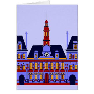Inspired by l'Hôtel de Ville (the City Hall), Pari Greeting Card