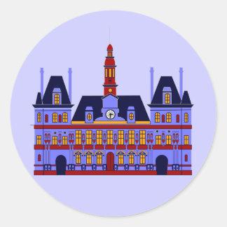 Inspired by l'Hôtel de Ville (the City Hall), Pari Round Sticker