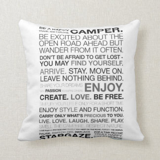 "Inspired Camping Polyester Throw Cushion 16"" x 16"""