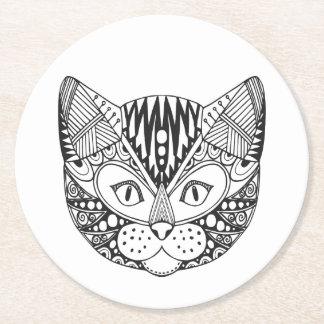 Inspired Cat Round Paper Coaster