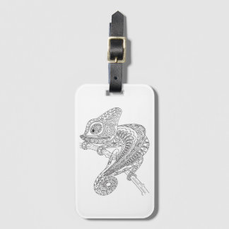 Inspired Chameleon Luggage Tag