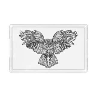 Inspired Eagle Owl Acrylic Tray