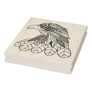 Inspired Eagle Rubber Stamp
