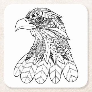 Inspired Eagle Square Paper Coaster