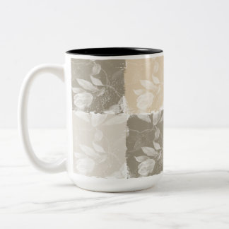 Inspired Earthy Floral Two-Tone Mug