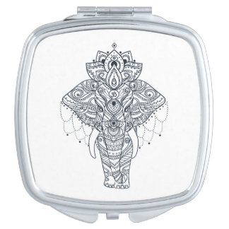 Inspired Elephant Compact Mirror