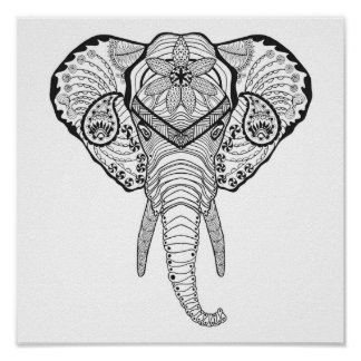 Inspired Elphant Head 2 Poster