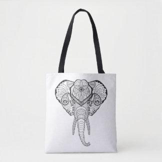 Inspired Elphant Head 2 Tote Bag