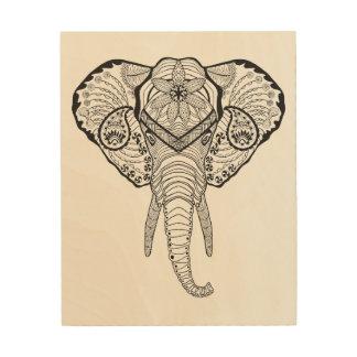 Inspired Elphant Head 5 Wood Wall Art
