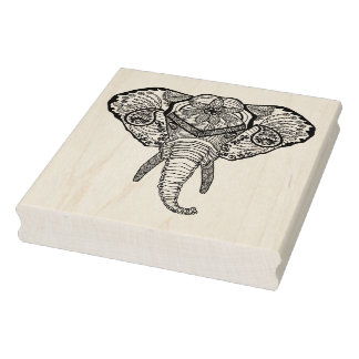 Inspired Elphant Head Rubber Stamp