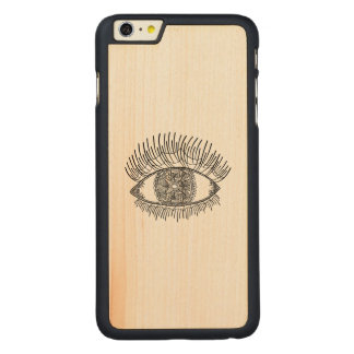 Inspired Eye Carved Maple iPhone 6 Plus Case