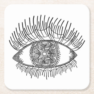 Inspired Eye Square Paper Coaster