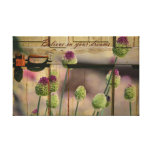Inspired Floral Wooden Door Gallery Wrapped Canvas