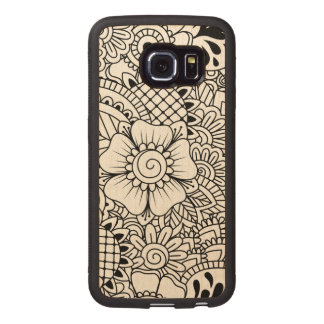 Inspired Flowers Wood Phone Case