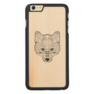 Inspired Fox Head Carved Maple iPhone 6 Plus Case