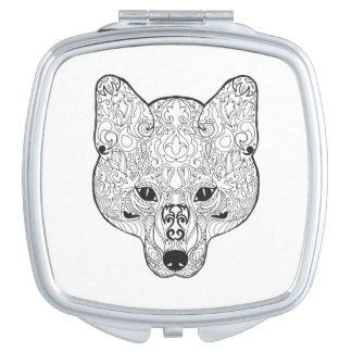 Inspired Fox Head Travel Mirrors