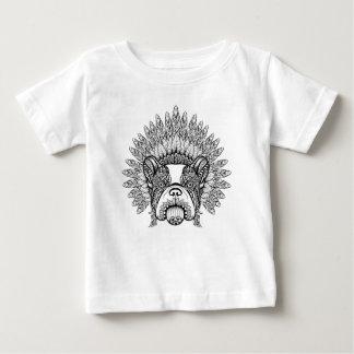 Inspired French Bulldog In War Bonnet Baby T-Shirt
