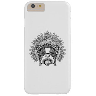 Inspired French Bulldog In War Bonnet Barely There iPhone 6 Plus Case