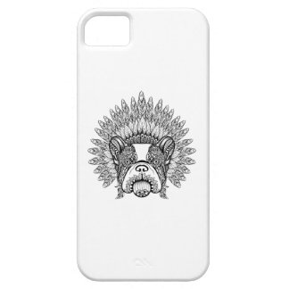 Inspired French Bulldog In War Bonnet iPhone 5 Cover