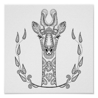 Inspired Giraffe 2 Poster