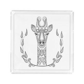 Inspired Giraffe Acrylic Tray