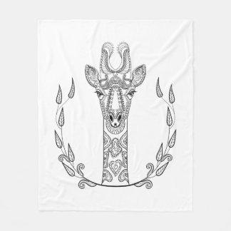 Inspired Giraffe Fleece Blanket