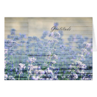 Inspired Gratitude Rustic Lavender Card