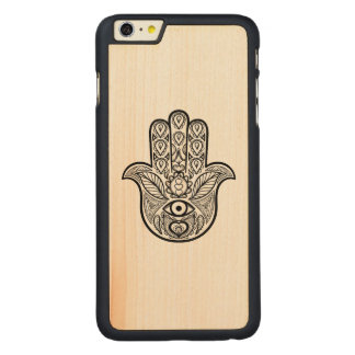 Inspired Hamsa Hand Carved Maple iPhone 6 Plus Case