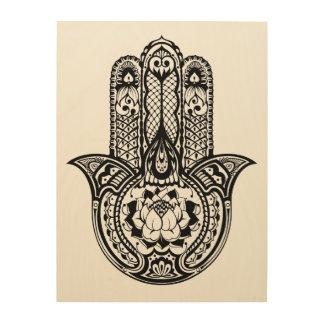 Inspired Hamsa Symbol 5 Wood Print