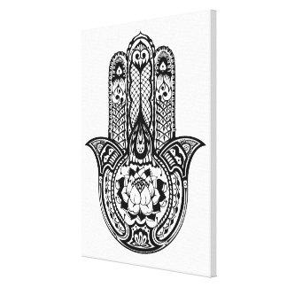 Inspired Hamsa Symbol 6 Canvas Print