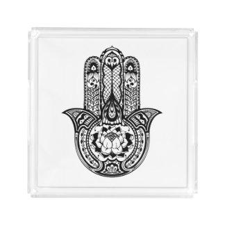 Inspired Hamsa Symbol Acrylic Tray