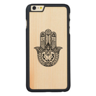 Inspired Hamsa Symbol Carved® Maple iPhone 6 Plus Case