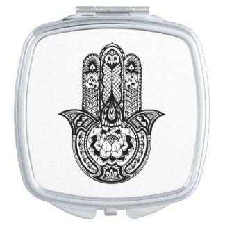 Inspired Hamsa Symbol Mirror For Makeup