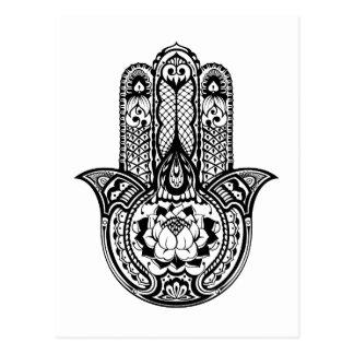 Inspired Hamsa Symbol Postcard