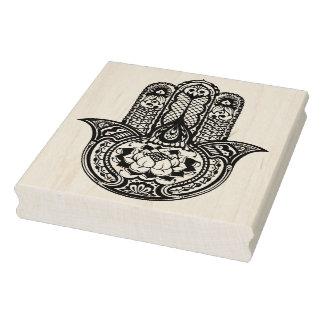 Inspired Hamsa Symbol Rubber Stamp
