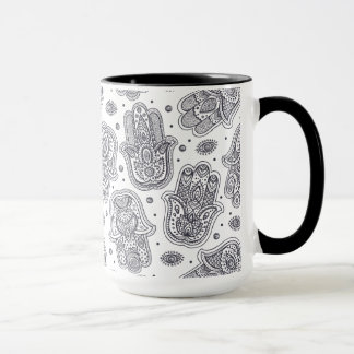 Inspired Hand Drawn Hamsa Mug