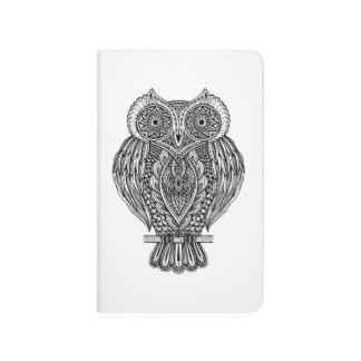 Inspired Hand Drawn Ornate Owl Journal
