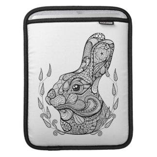 Inspired Head Of Rabbit In Wreath iPad Sleeve