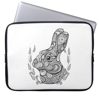 Inspired Head Of Rabbit In Wreath Laptop Sleeve