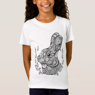 Inspired Head Of Rabbit In Wreath T-Shirt