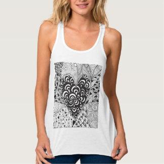 Inspired Heart Doodle Tank Top