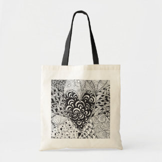 Inspired Heart Doodle Tote Bag