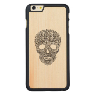 Inspired Human Skull Carved® Maple iPhone 6 Plus Case