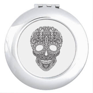 Inspired Human Skull Compact Mirror