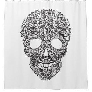 Inspired Human Skull Shower Curtain