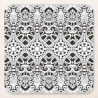 Inspired Illustration Square Paper Coaster