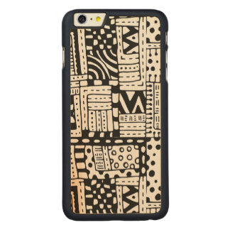 Inspired Indian Abstract Figures Carved® Maple iPhone 6 Plus Case