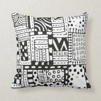 Inspired Indian Abstract Figures Cushion
