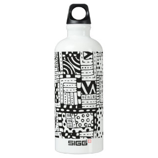 Inspired Indian Abstract Figures Water Bottle