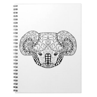 Inspired Koala Bear Spiral Note Book